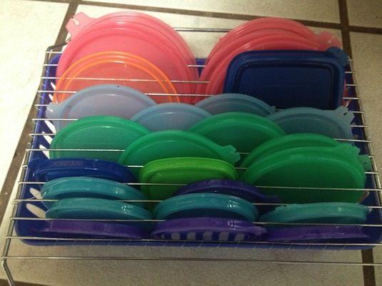 12 easy kitchen organization tips diy tupperware lid storage 3