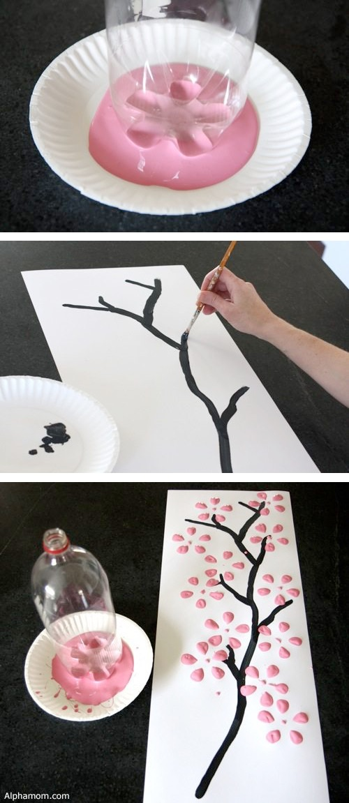 DIY wall art using an empty 2 liter bottle! -- Easy DIY craft ideas for adults for the home, for fun, for gifts, to sell and more! Some of these would be perfect for Christmas or other holidays. A lot of awesome projects here! Listotic.com