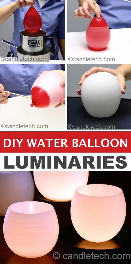 DIY Water Balloon Luminaries -- Easy DIY craft ideas for adults for the home, for fun, for gifts, to sell and more! Some of these would be perfect for Christmas or other holidays. A lot of awesome projects here! Listotic.com
