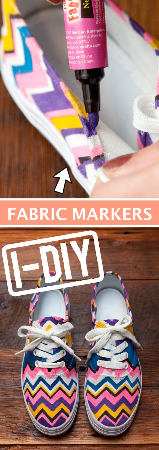 Fun with fabric markers! -- Easy DIY craft ideas for adults for the home, for fun, for gifts, to sell and more! Some of these would be perfect for Christmas or other holidays. A lot of awesome projects here! Listotic.com