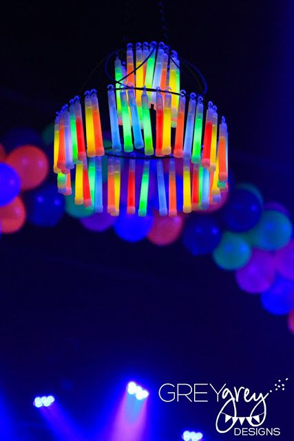 20 Cool Glow Stick Ideas | Glow Stick Chandelier