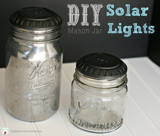 20 Of The Best Mason Jar Projects | Mason jar solar lights!!
