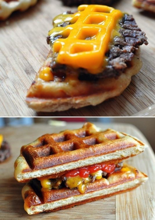 23 Things You Can Cook In A Waffle Iron | Waffle Iron Cheeseburger