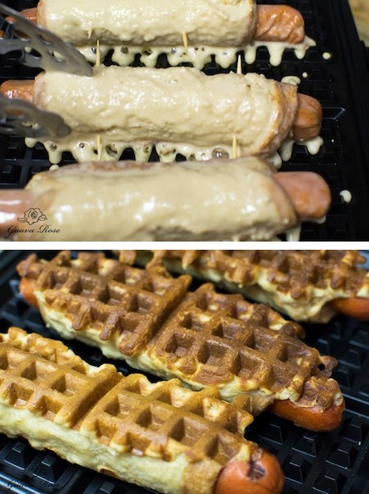 23 Things You Can Cook In A Waffle Iron | Waffle Iron Hot Dogs