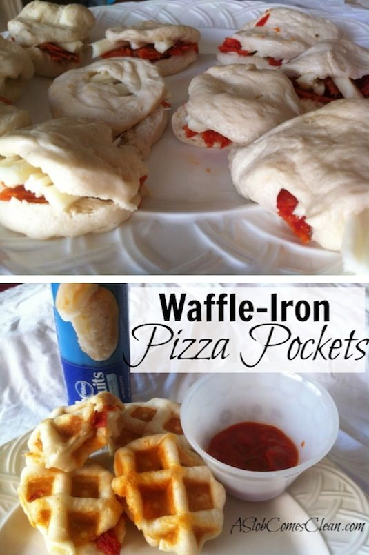 23 Things You Can Cook In A Waffle Iron | Waffle Iron Pizza Pockets