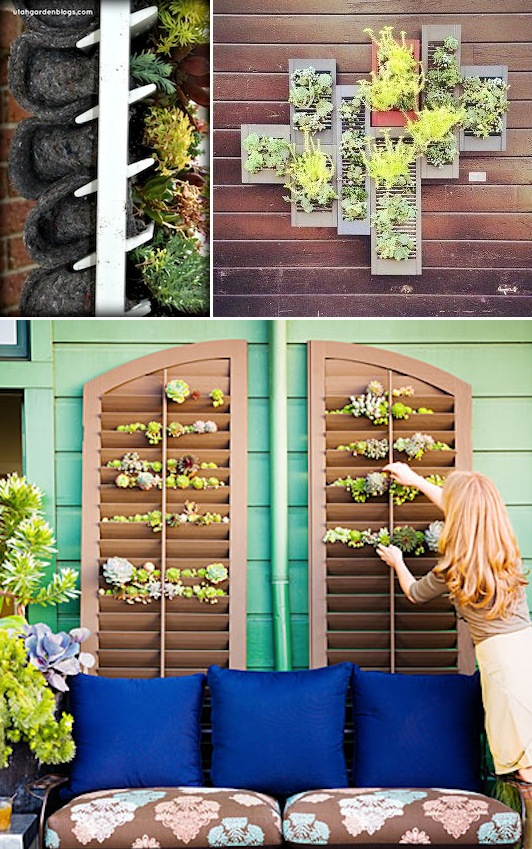 24 creative garden container ideas with pictures for Creative garden ideas small spaces