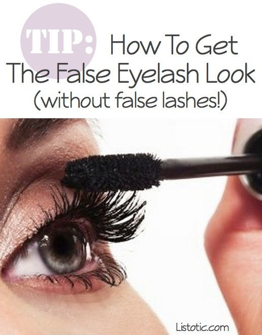 How to get long thick lashes with mascara (false eyelash look) -- Makeup tips and tricks for beginners, teens and even experts! These beauty hacks and step-by-step tutorials are perfect for women of any age, older or younger. Easy ideas and life hacks every girl should know. :) Listotic.com