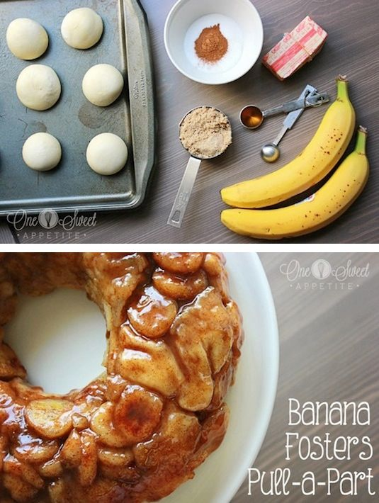 42 Mouthwatering Pull-Apart Recipes | Banana Fosters Monkey Bread