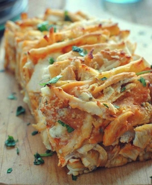 42 Mouthwatering Pull-Apart Recipes   Buffalo Chicken Pull-Apart Bread