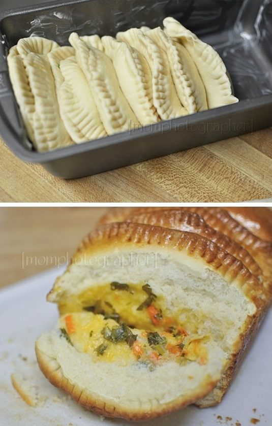 42 Mouthwatering Pull-Apart Recipes | Cheesy Veggie Stuffed Pull-Apart Bread