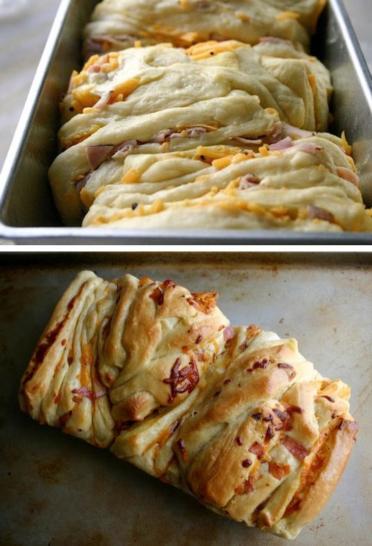 42 Mouthwatering Pull-Apart Recipes | Ham & Cheddar Pull-Apart Bread