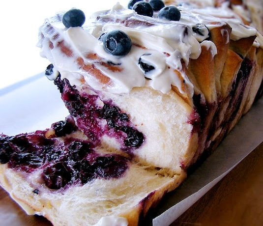 42 Mouthwatering Pull-Apart Recipes | Lemon Blueberry Pull-Apart Bread