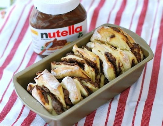 42 Mouthwatering Pull-Apart Recipes | Nutella Pull-Apart Bread