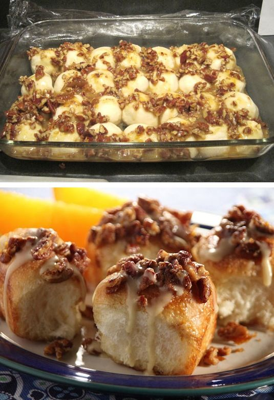 42 Mouthwatering Pull-Apart Recipes | Pecan Orange Pull-Apart Rolls