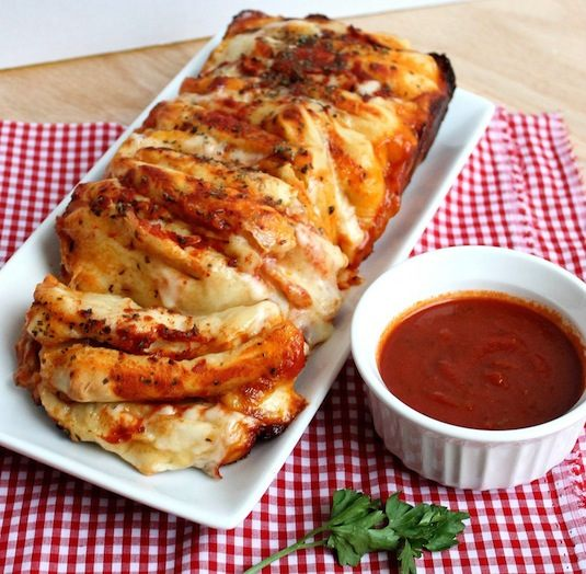 42 Mouthwatering Pull-Apart Recipes | Pizza Pull-Apart Loaf