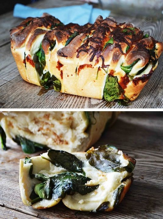 42 Mouthwatering Pull-Apart Recipes | Spinach & Feta Pull-Aparts