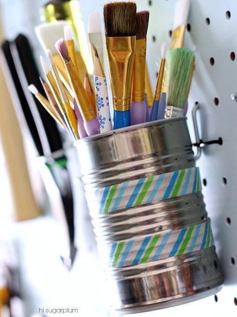 28 Brilliant Garage Organization Ideas   Tin Can Wall Storage