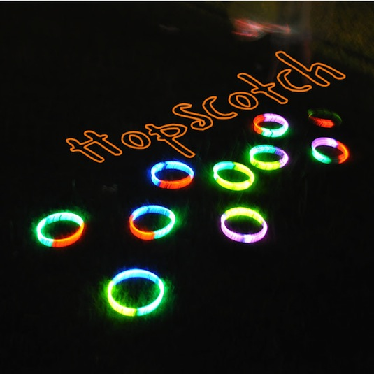 Glow Stick Hopscotch