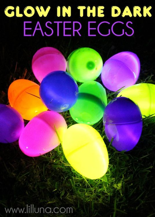 20 Cool Glow Stick Ideas | Glow In The Dark Easter Eggs