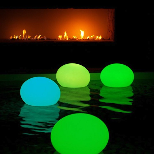 Glow Stick Pool Lanterns