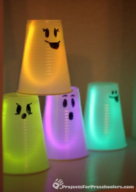 20 Cool Glow Stick Ideas | Glowing Ghost Cups