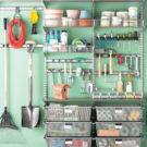 Lots of clever garage organization ideas.