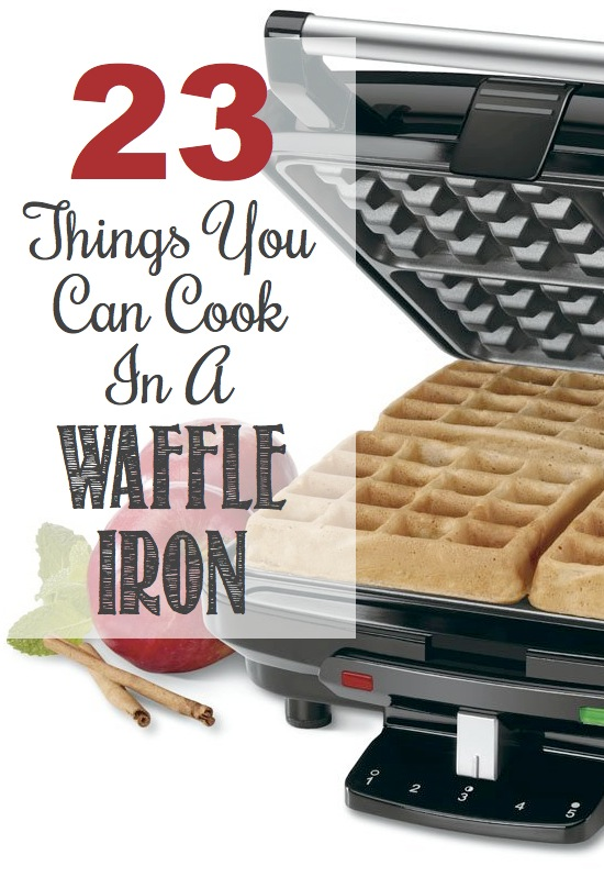 The ULTIMATE list of waffled food from Listotic! I love these. Waffle iron with waffles waiting for them
