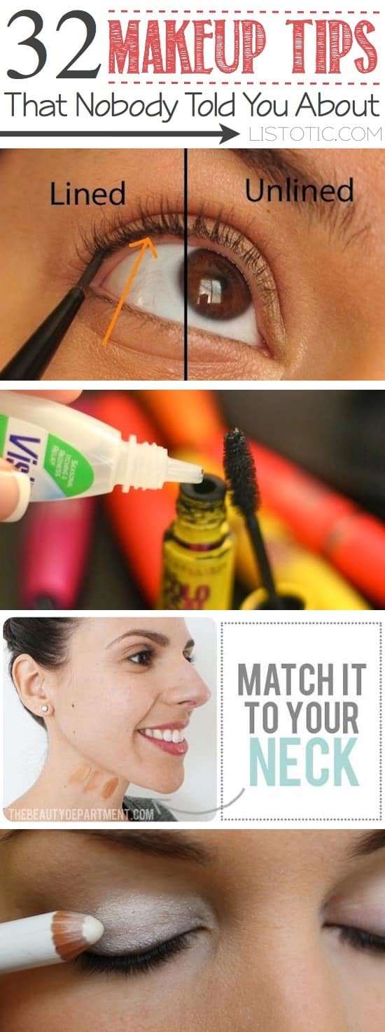 32 Makeup Tips That Nobody Told You About (for beginners ...