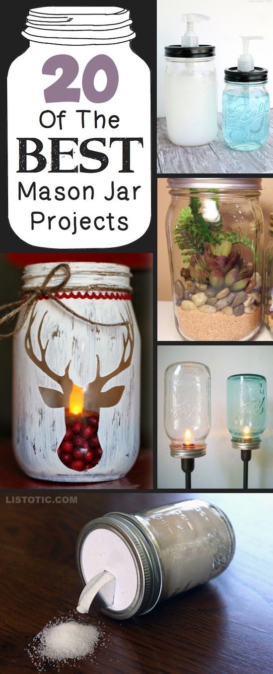 20 Of The Best Diy Mason Jar Crafts For Home More