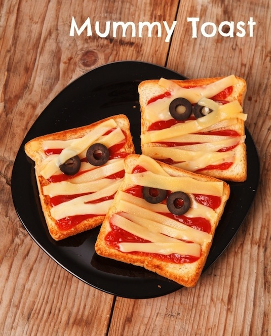 Mummy toast kids' snack.