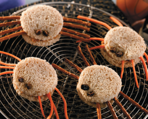 Mini spider sandwiches easy school lunch recipes for kids.