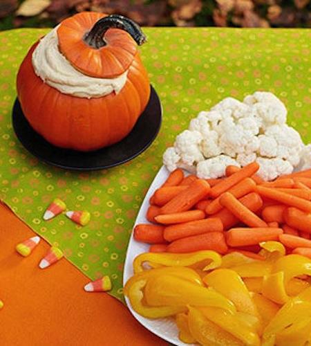 Easy autumn veggie platter.