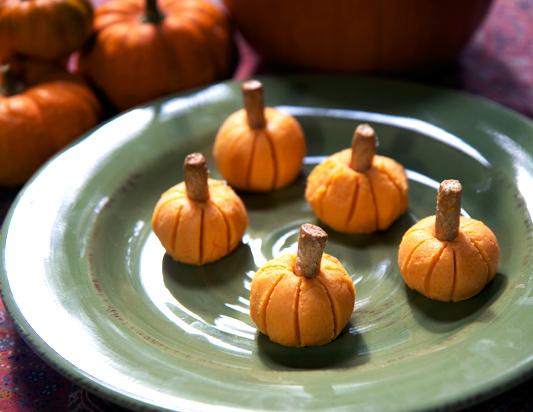 Cream cheese pumpkins easy dip recipe.