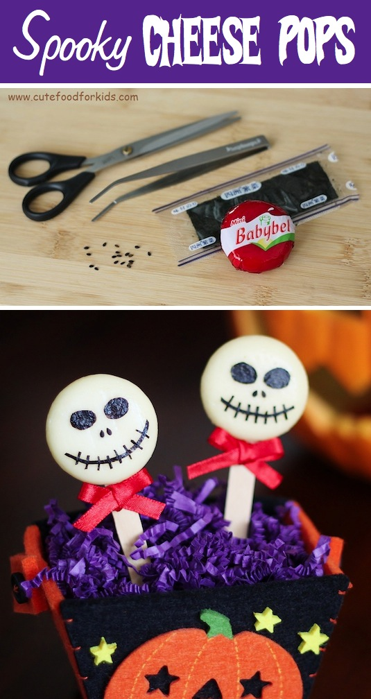 Spooky cheese pops recipe for kids.