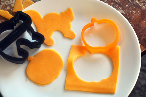 Cheese creatures healthy Halloween snacks recipes.