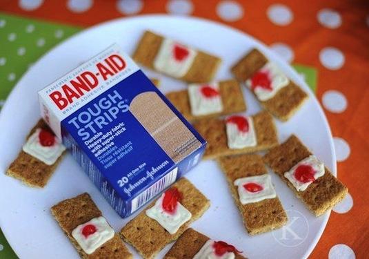 Bloody band-aids creative recipe.