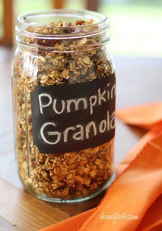 Pumpkin granola recipe.