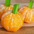 Healthy halloween orange pops.