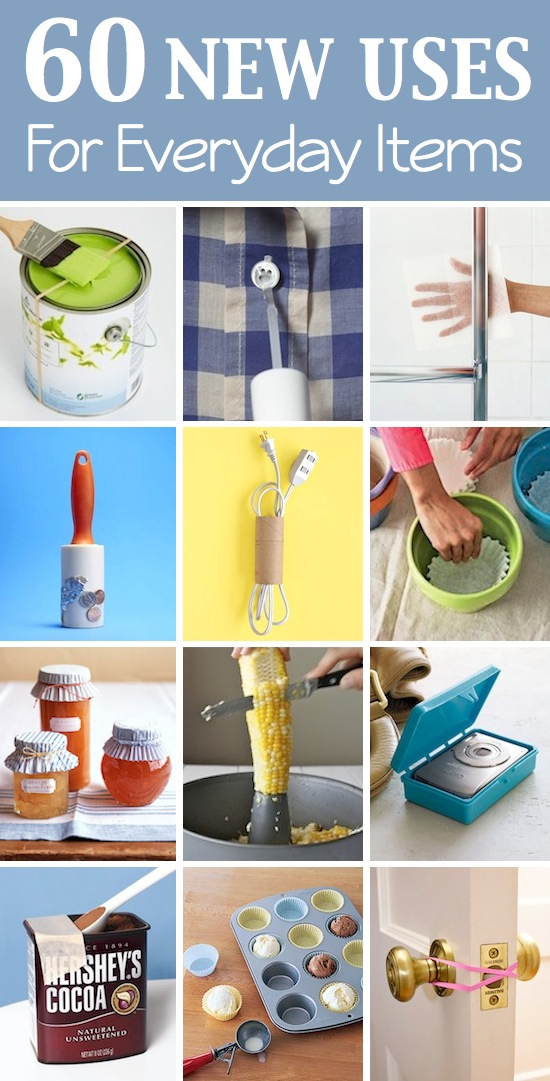 Lots of creative new uses for things you probably already have laying around your house! Listotic.com