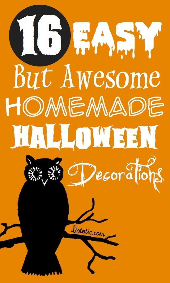 16 easy but awesome homemade halloween decorations with photo tutorials - Homemade halloween decorations ...