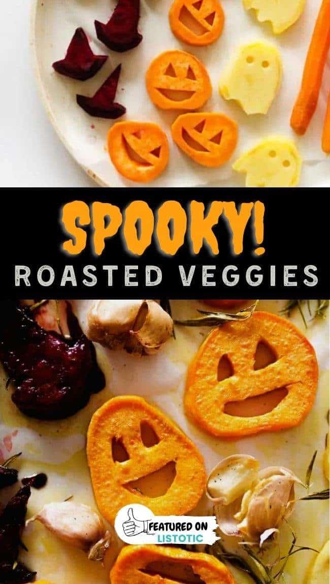 healthy Halloween roasted veggies snack