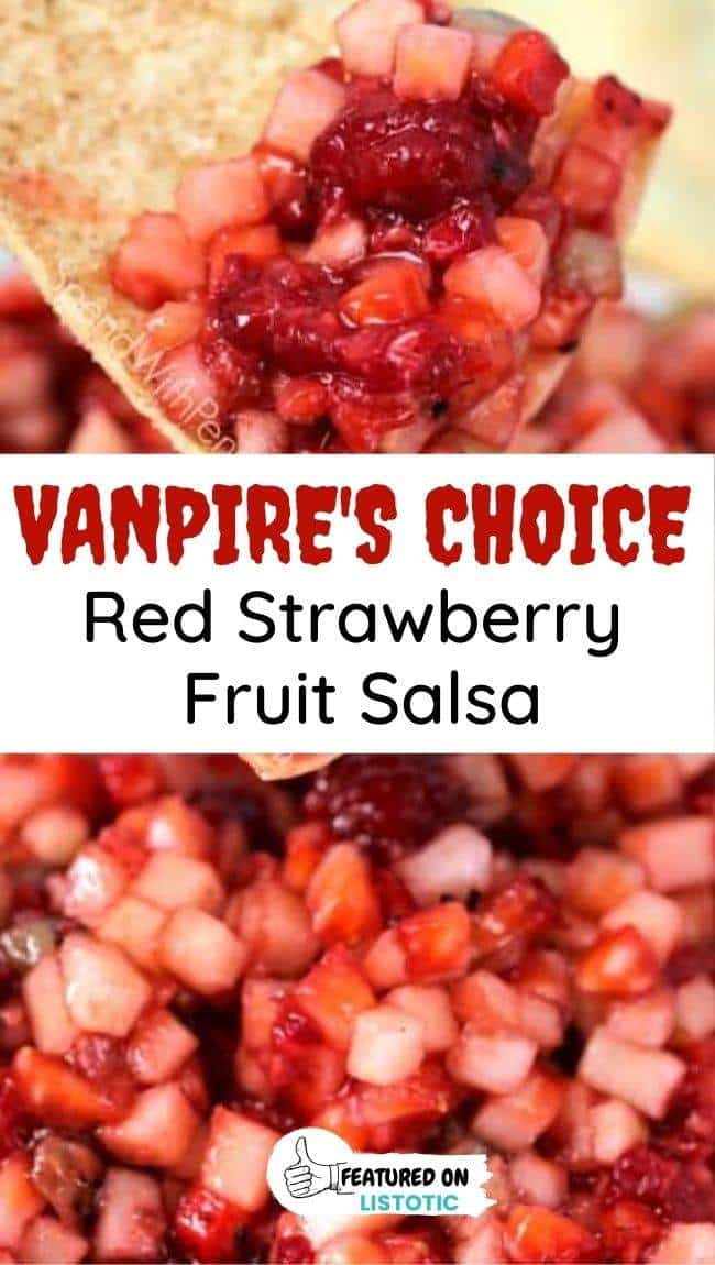strawberry salsa healthy Halloween treat idea