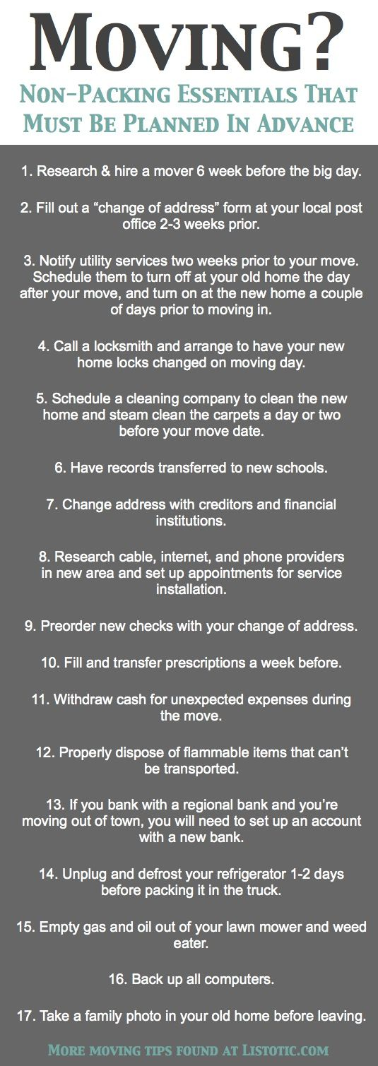 33+ Helpful Moving Tips Everyone Should Know! Including this handy checklist of important details not to forget.