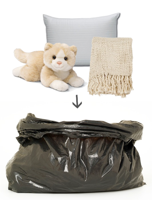 Place soft items in trash bags and use them as padding next to fragile items in the moving truck! - Lots of clever moving, packing and organizing tips for houses, apartments and out of state or long distance moves! Moving into a new house? Here you will find clever moving hacks everyone should know, including a moving checklist. Listotic.com