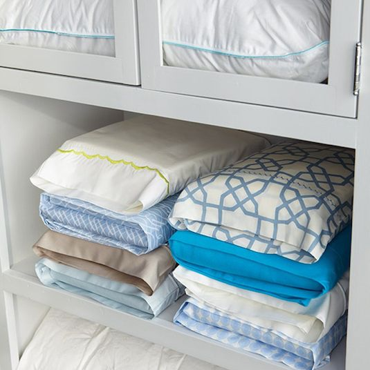 50 Genius Storage Ideas ~ Tuck your matching sheet sets inside one of it's own pillow cases!