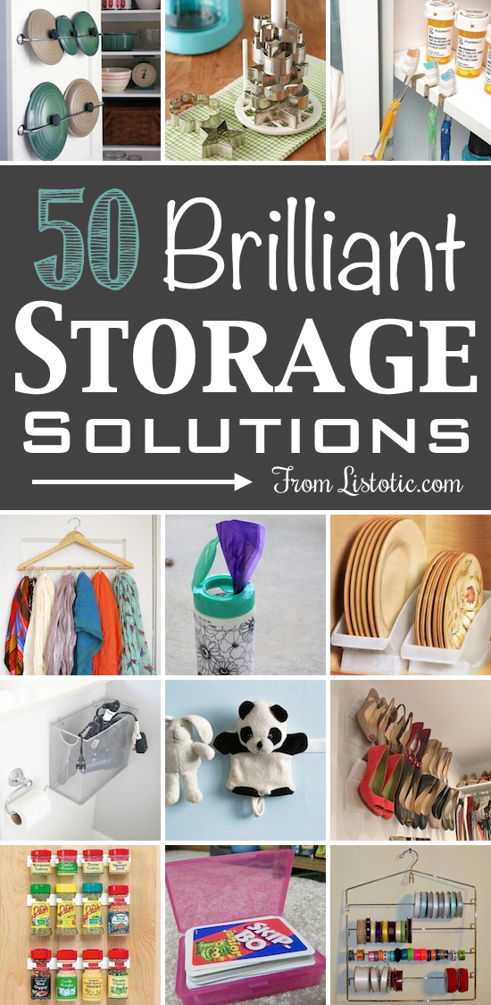 products and diy ideas to make storage simple in the home and save space