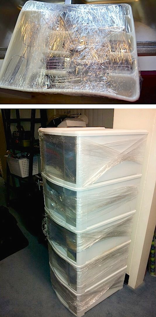 Helpful moving tips! Use plastic wrap to keep drawers shut and silverware in its place. - Lots of clever moving, packing and organizing tips for houses, apartments and out of state or long distance moves! Moving into a new house? Here you will find clever moving hacks everyone should know, including a moving checklist. Listotic.com