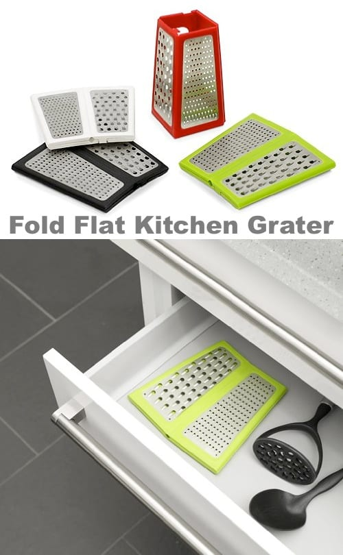 50 Useful Kitchen Gadgets -- foldable space saving cheese grater.