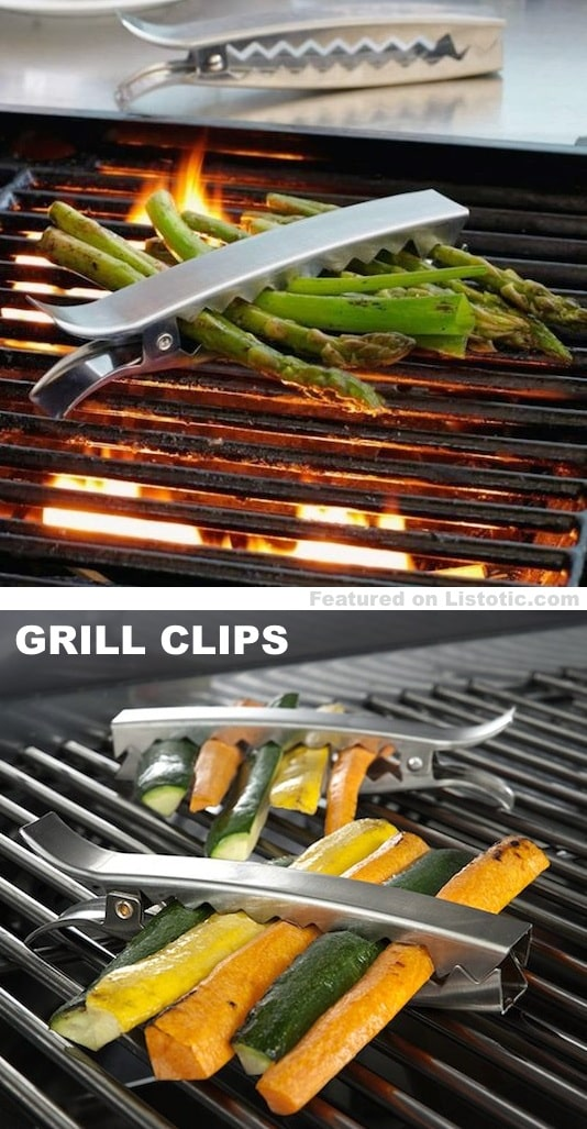 Grill clips... holds your food together so that it doesn't fall through the grates.