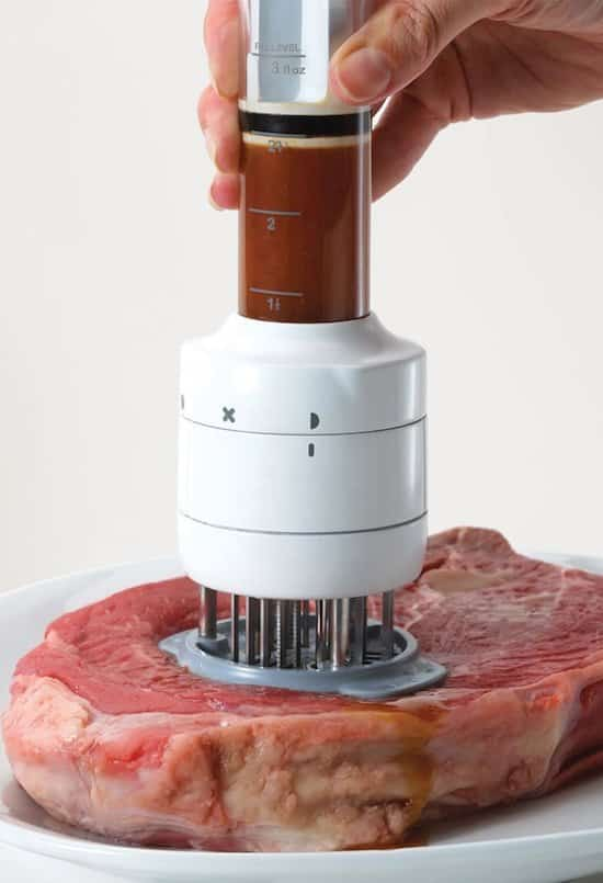 marinade infusing meat tenderizer